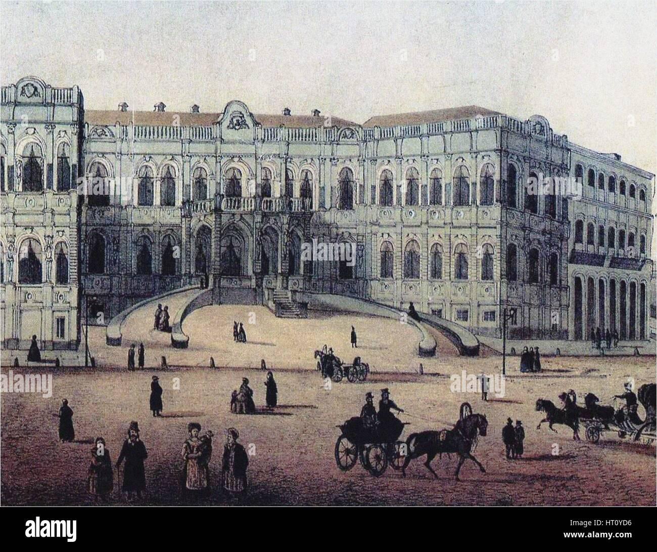 The Chertkov House on Myasnitskaya Street in Moscow, 1860s. Artist: Anonymous Stock Photo
