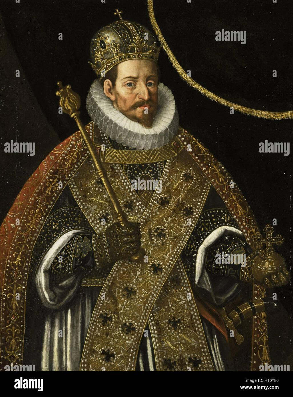 Portrait of Matthias (1557-1619), Holy Roman Emperor, c. 1610. Artist: Aachen, Hans von (1552-1615) - Stock Image