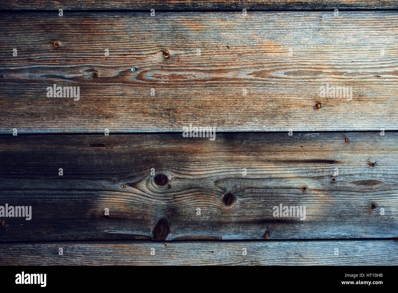 Rustic wooden planks texture, hardwood flooring surface pattern - Stock Image