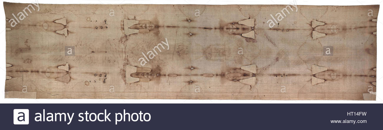 The Shroud of Turin. Artist: Objects of History - Stock Image