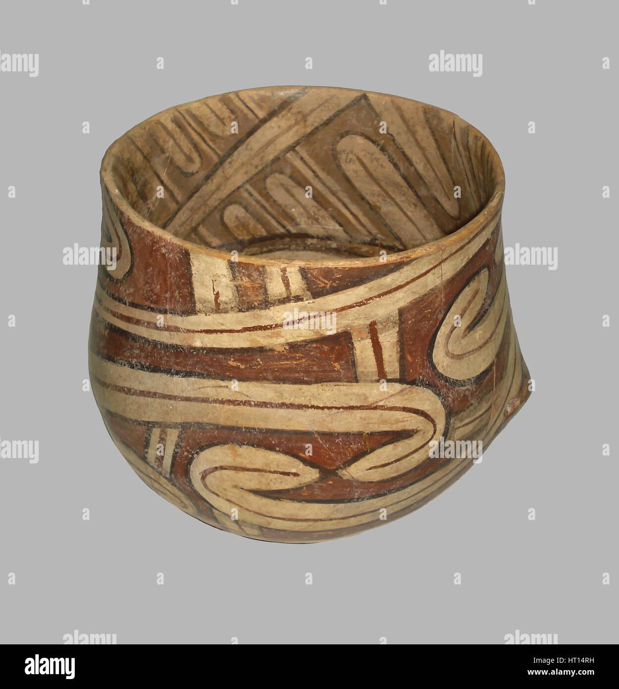 Vessel, 4100 BC. Artist: Prehistoric Russian Culture - Stock Image