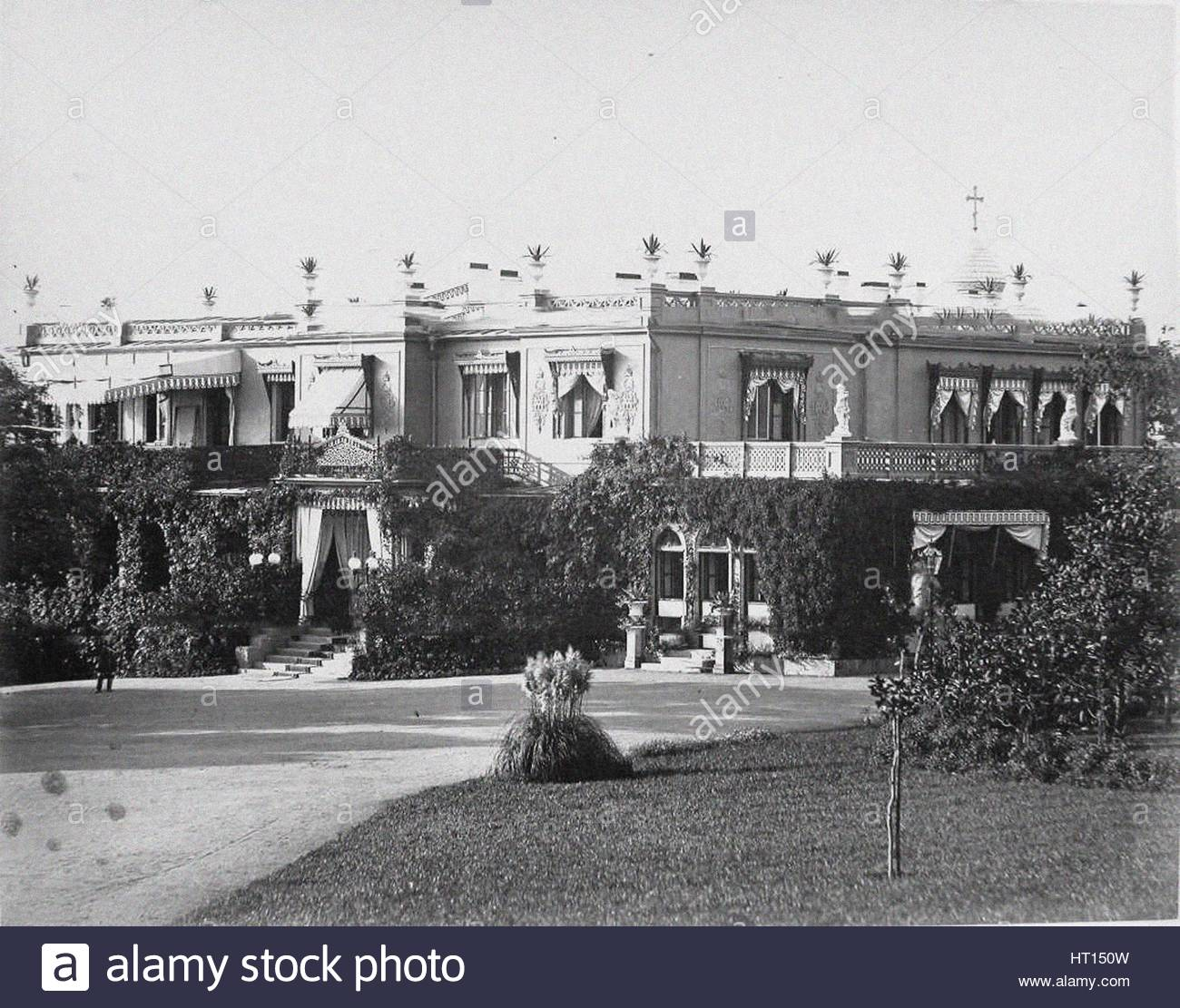 The Livadiya palace, 1900s. Artist: Anonymous - Stock Image