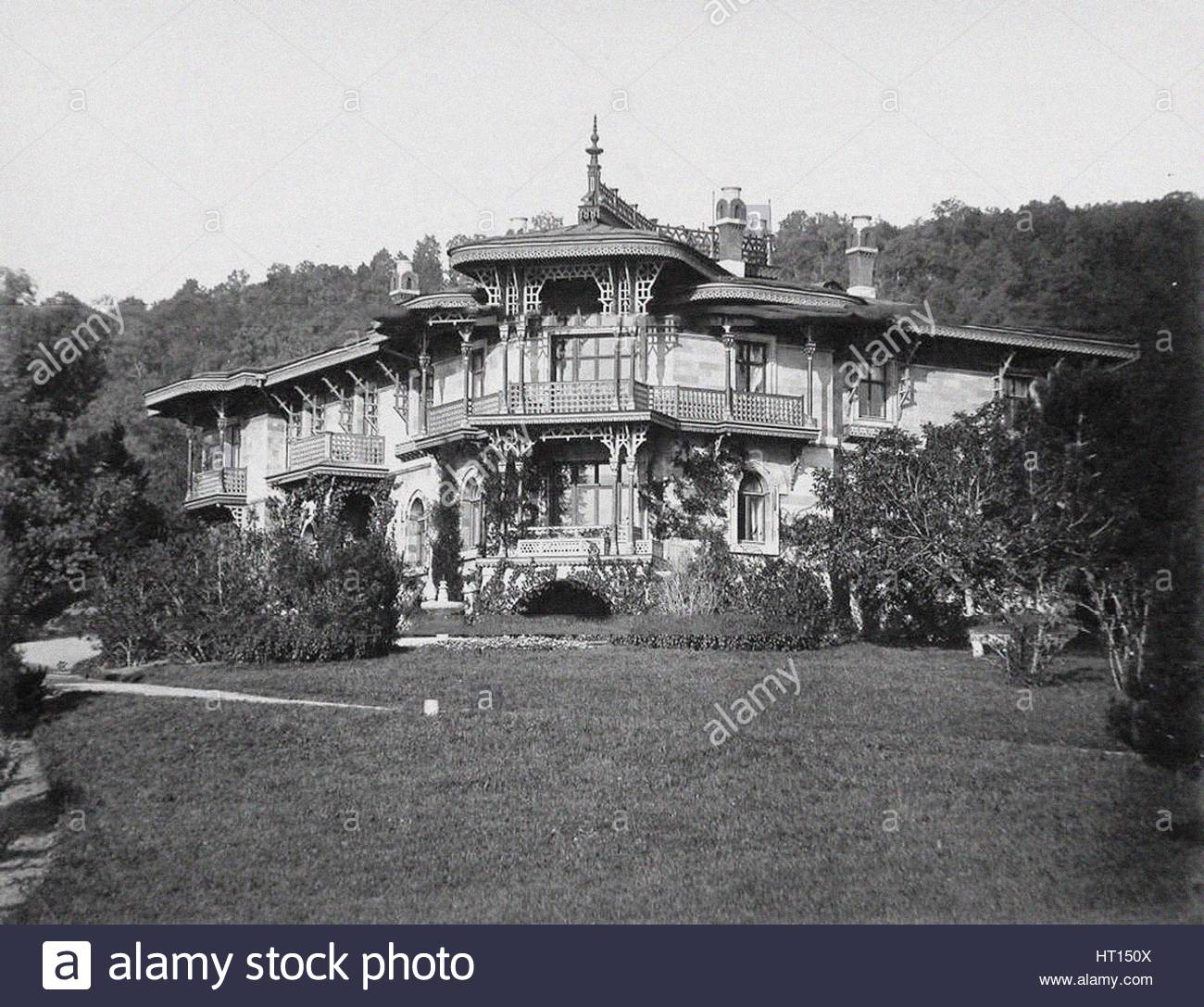 The small Livadiya palace, 1900s. Artist: Anonymous - Stock Image