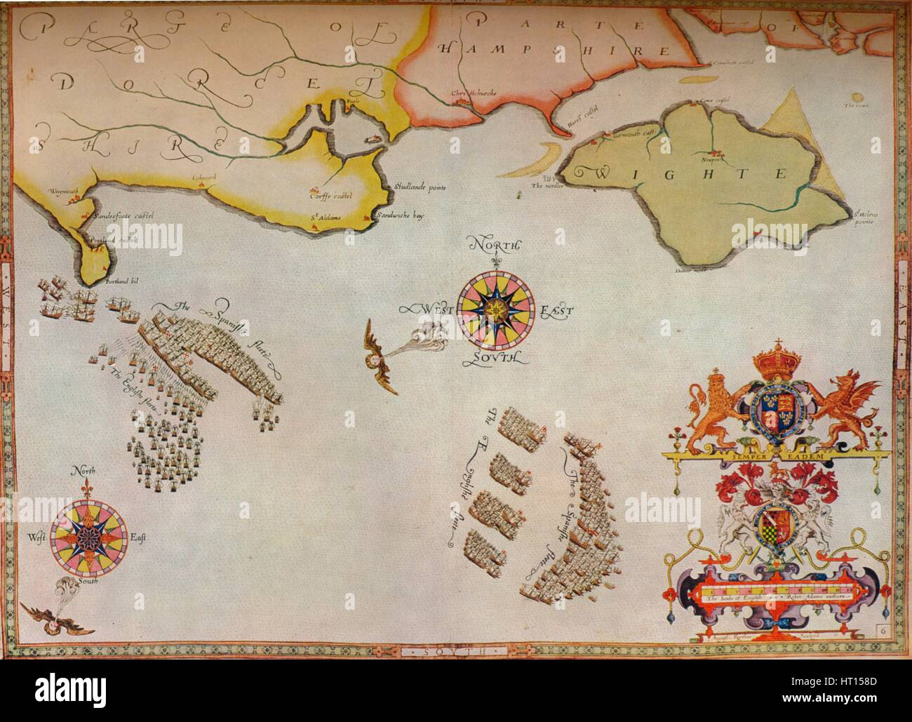 Image of: Map Of Spanish Armada High Resolution Stock Photography And Images Alamy