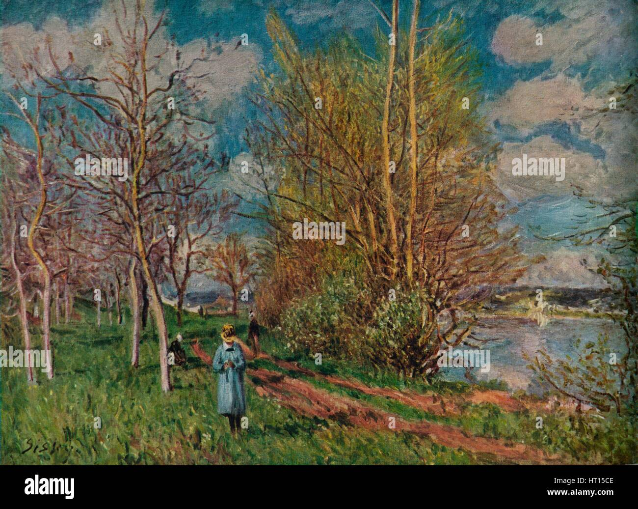 'The Small Meadows in Spring', c1880-1. Artist: Alfred Sisley. - Stock Image