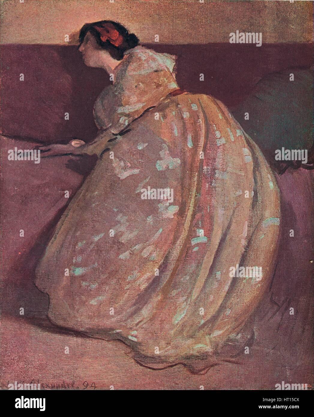 'The Divan', c1900. Artist: John White Alexander. - Stock Image