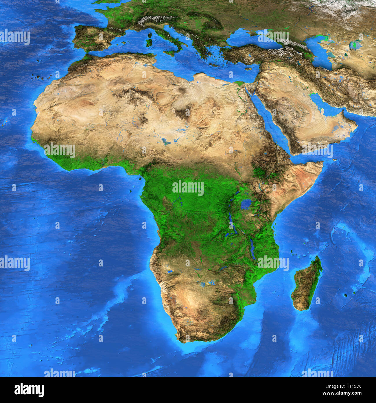 Detailed Satellite View Of The Earth And Its Landforms Africa Map