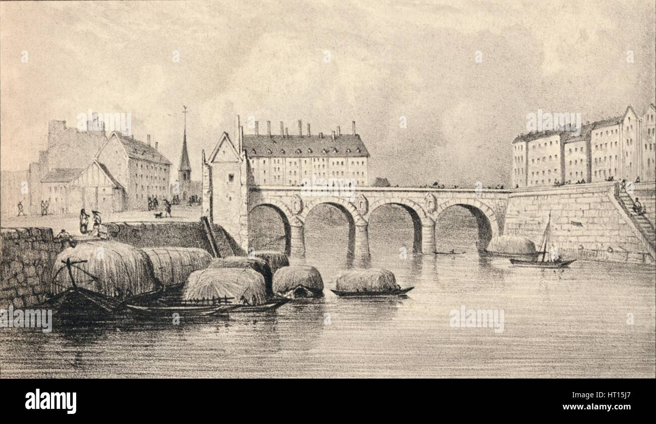 'The Pont Marie', 1915. Artist: Unknown. - Stock Image