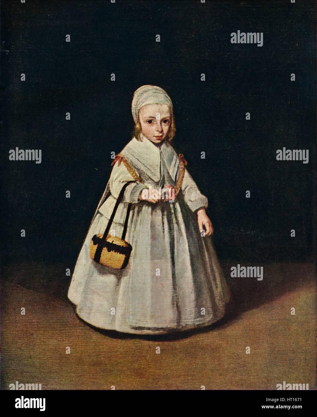 'Portrait of Helena van der Schalcke', c1648. Artist: Gerard Terborch II. - Stock Image
