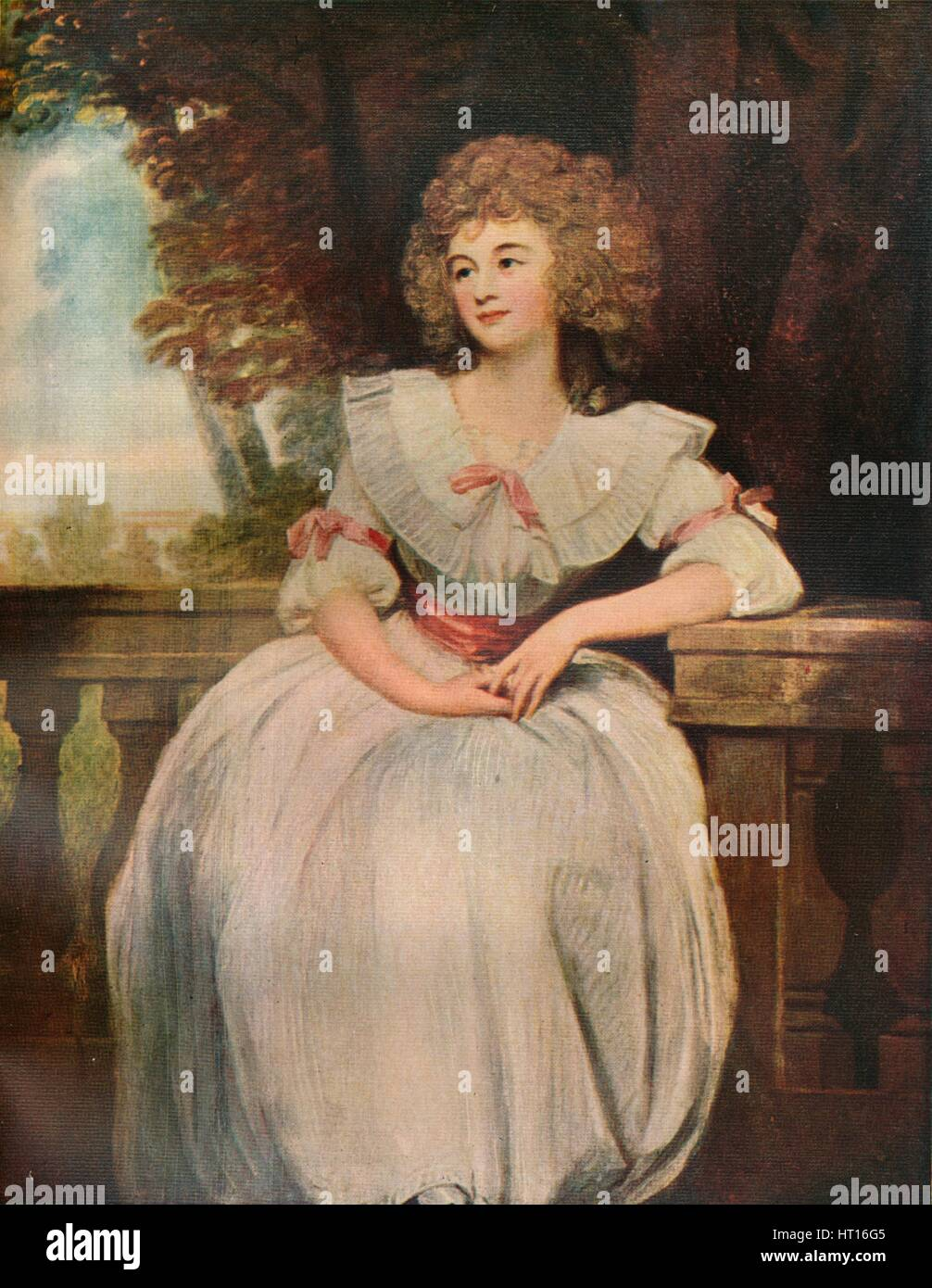 'Mrs Mark Currie', 1789. - Stock Image