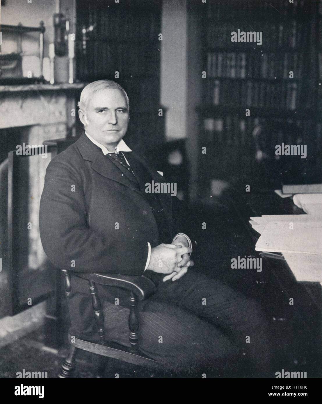 'Sir Robert Finlay in his chambers', c1903. Artist: Campbell & Gray. - Stock Image