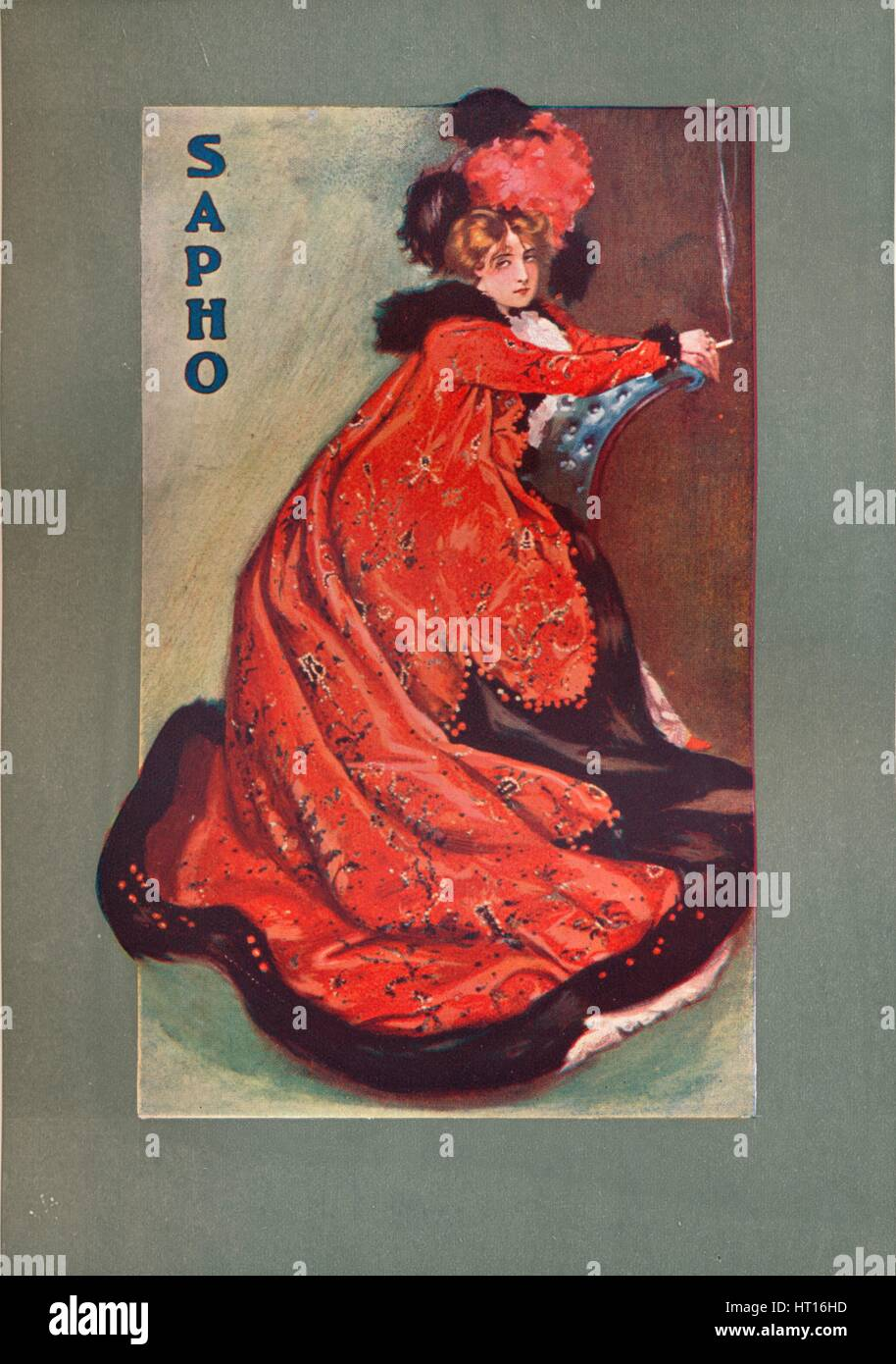 'Mrs Olga Nethersole in ''Sapho''', c1900. Artist: Unknown. Stock Photo