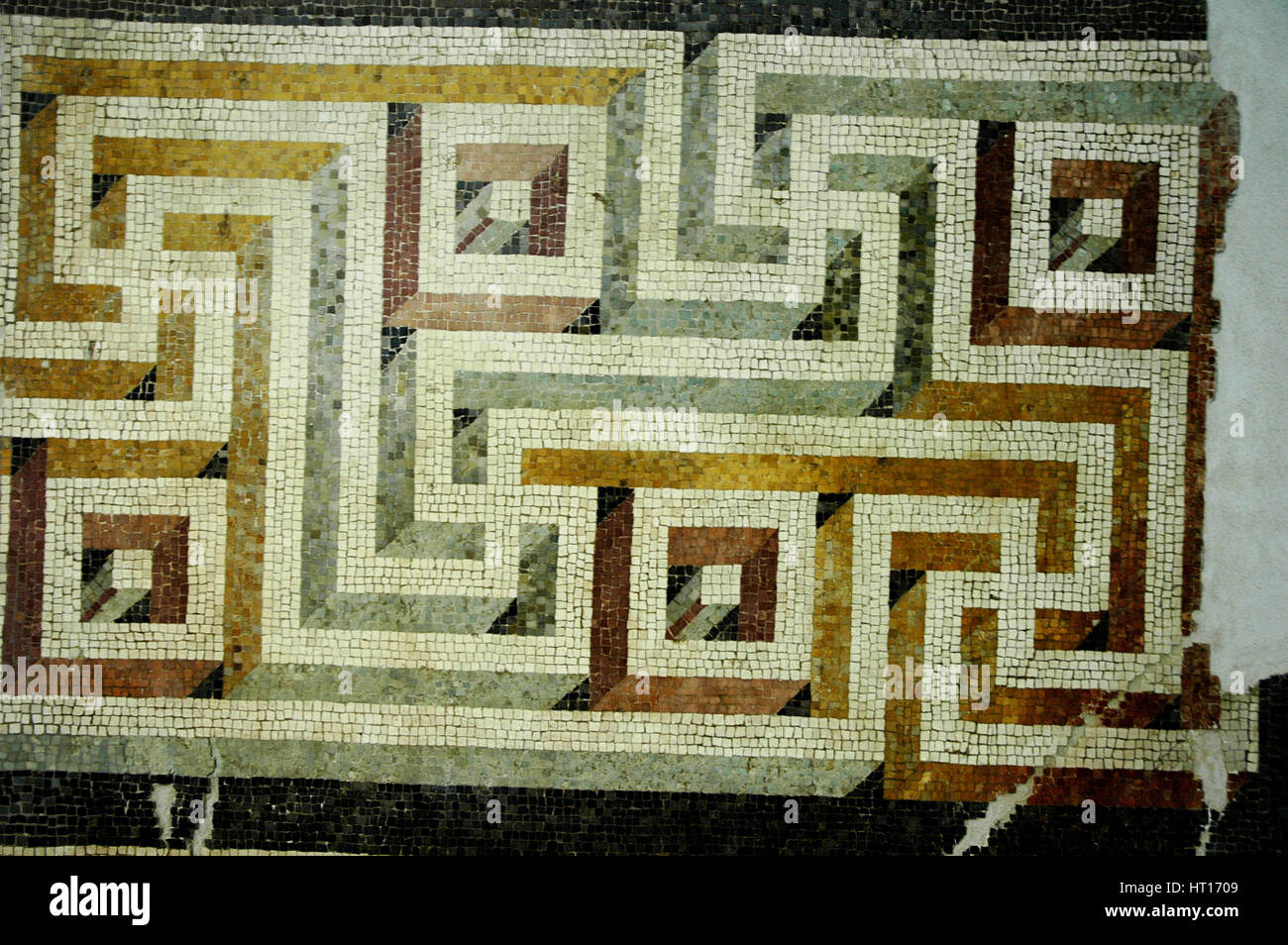Geometric mosaic floor.  Culture: Roman.   Place of Origin: Rome. Credit Line: Werner Forman Archive Artist: Werner - Stock Image