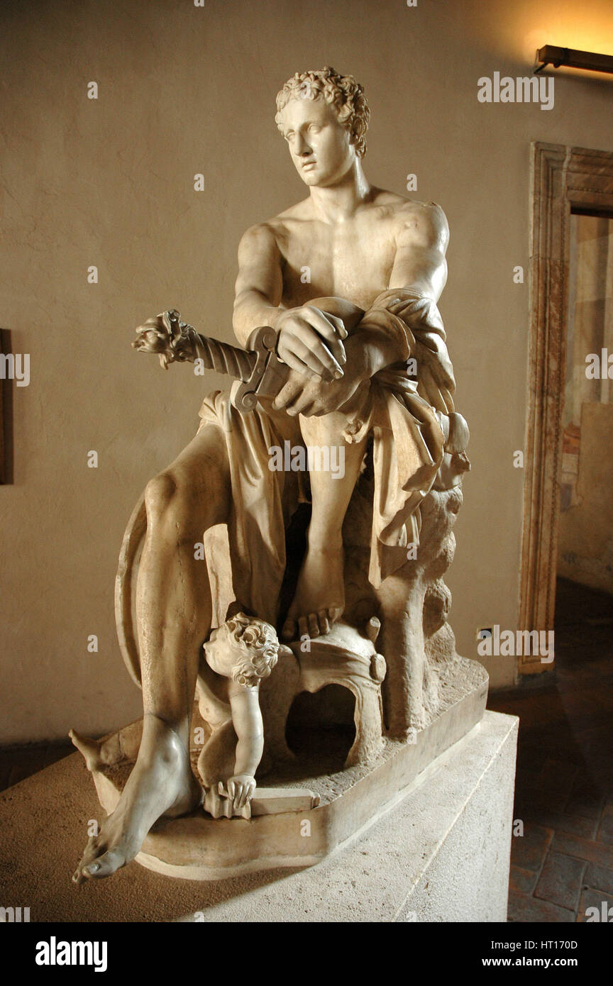 Ludovisi Ares, Roman copy of a Greek original (late 4th C BC) associated with Scopas or Lysippus.   Artist: Werner - Stock Image
