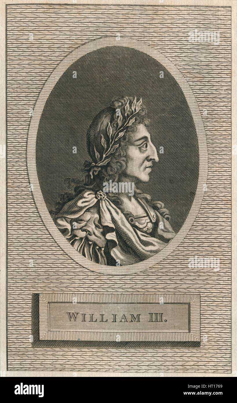 King William III, 1793. Artist: Unknown. - Stock Image