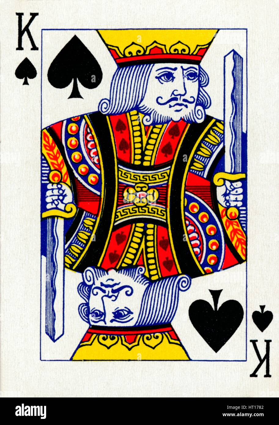 king of spades from a deck of goodall amp son ltd playing
