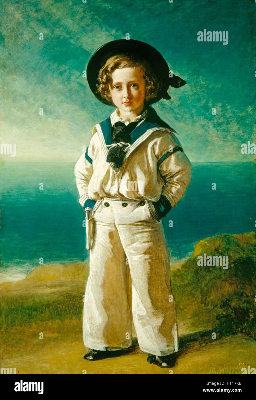 King Edward VII (1841-1910), when Albert Edward, Prince of Wales, 1846. Artist: Winterhalter, Franz Xavier (1805 - Stock Image