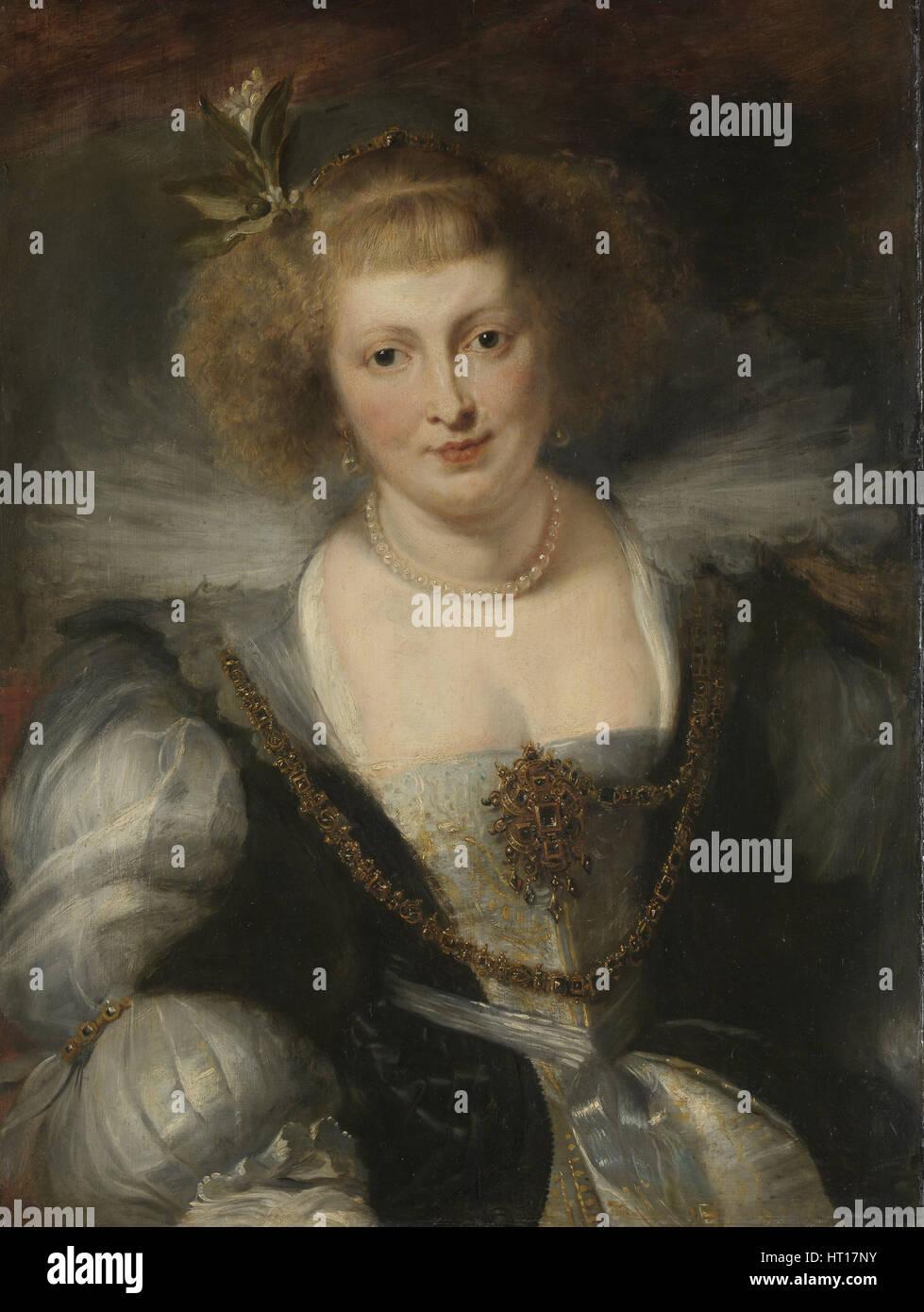 Hélène Fourment, c. 1635. Artist: Rubens, Peter Paul, (School) - Stock Image