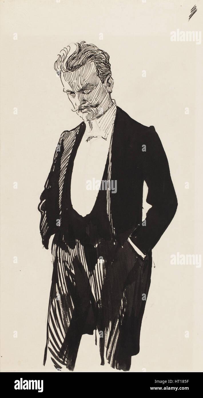 Jean Sibelius. Artist: Edelfelt, Albert Gustaf Aristides (1854-1905) Stock Photo
