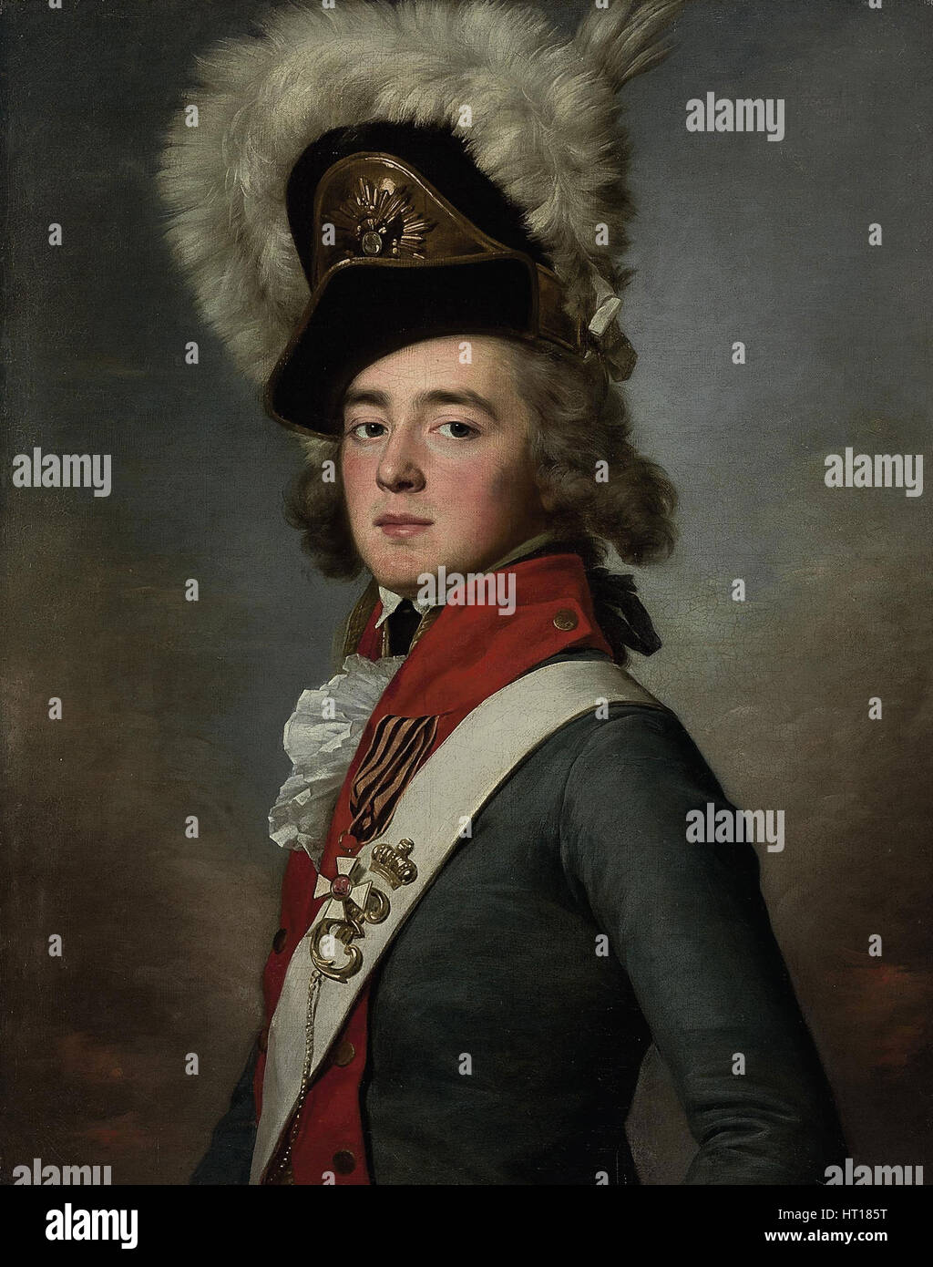 Portrait of Count Valerian Aleksandrovich Zubov (1771-1804), 1791-1792. Artist: Voille, Jean Louis (1744-after 1803) - Stock Image
