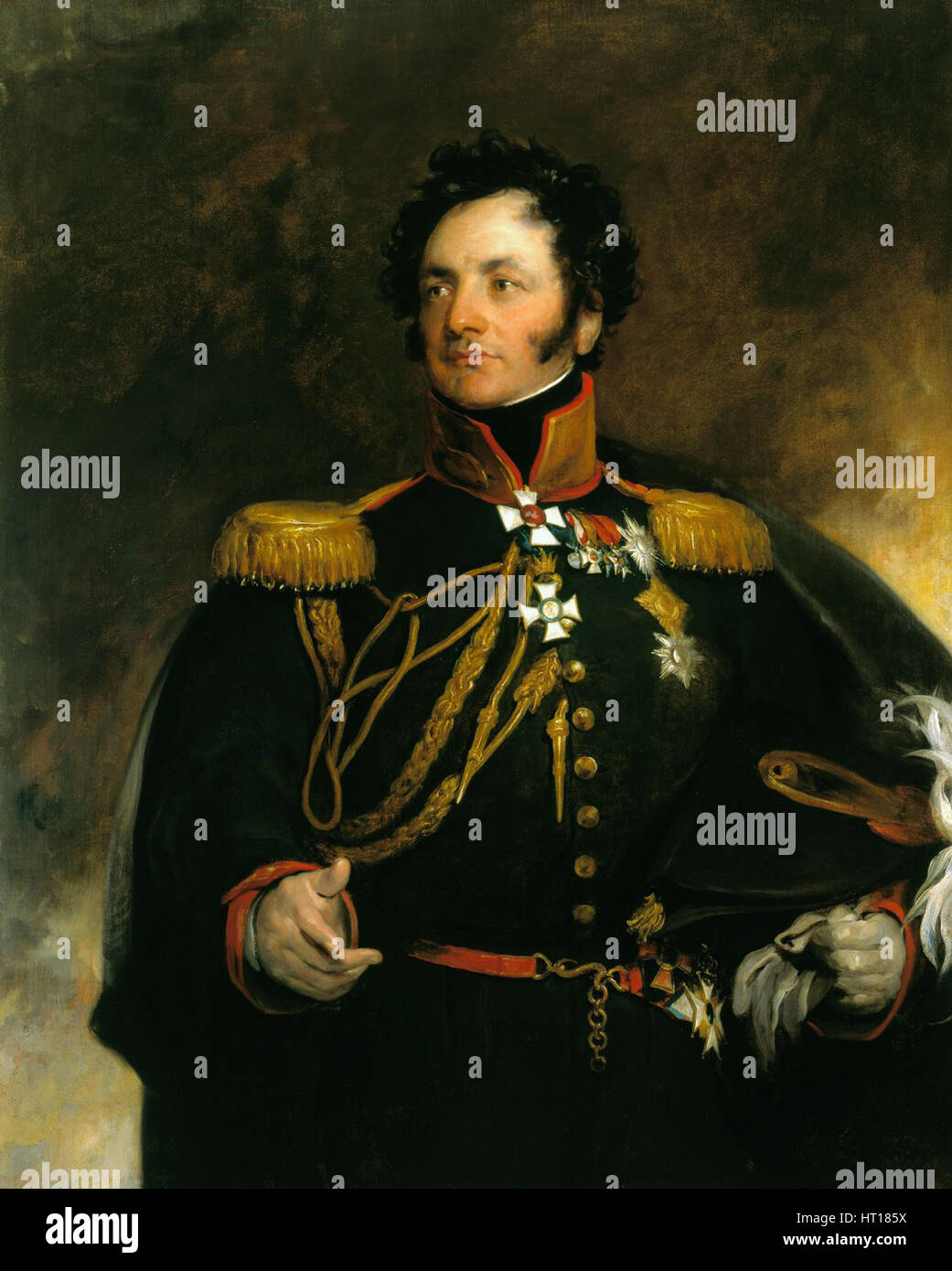 Portrait of General Fyodor Petrovich Uvarov (1773-1824), 1818. Artist: Lawrence, Sir Thomas (1769-1830) - Stock Image
