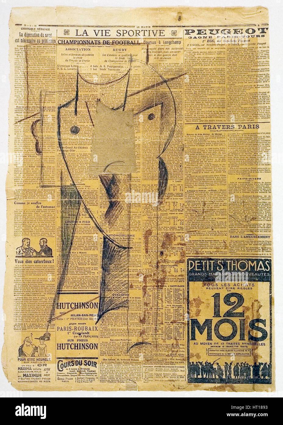 Head, 1913-1914. Artist: Gutfreund, Otto (1889-1927) - Stock Image