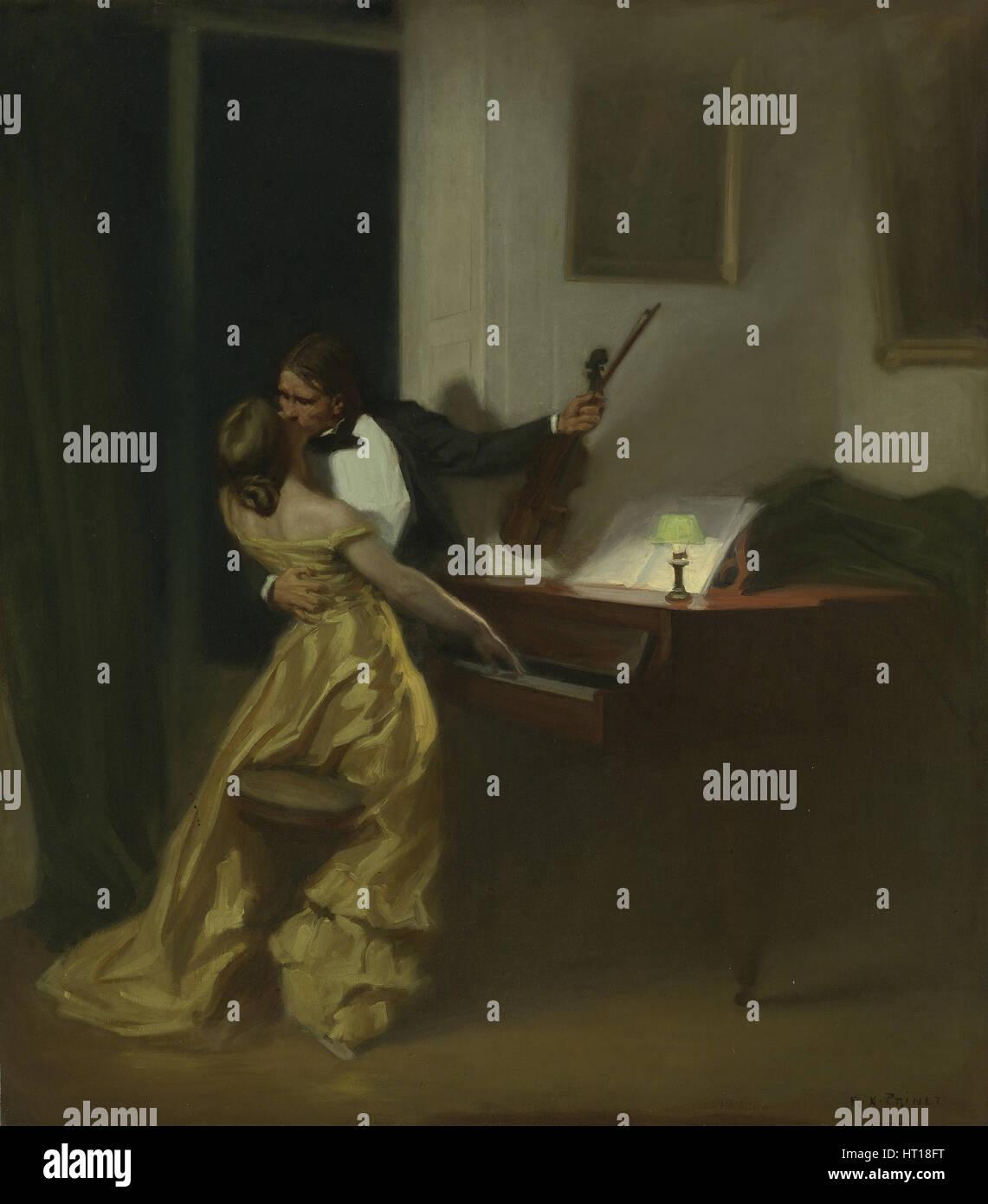 The Kreutzer Sonata, 1901. Artist: Prinet (1861-1946) - Stock Image