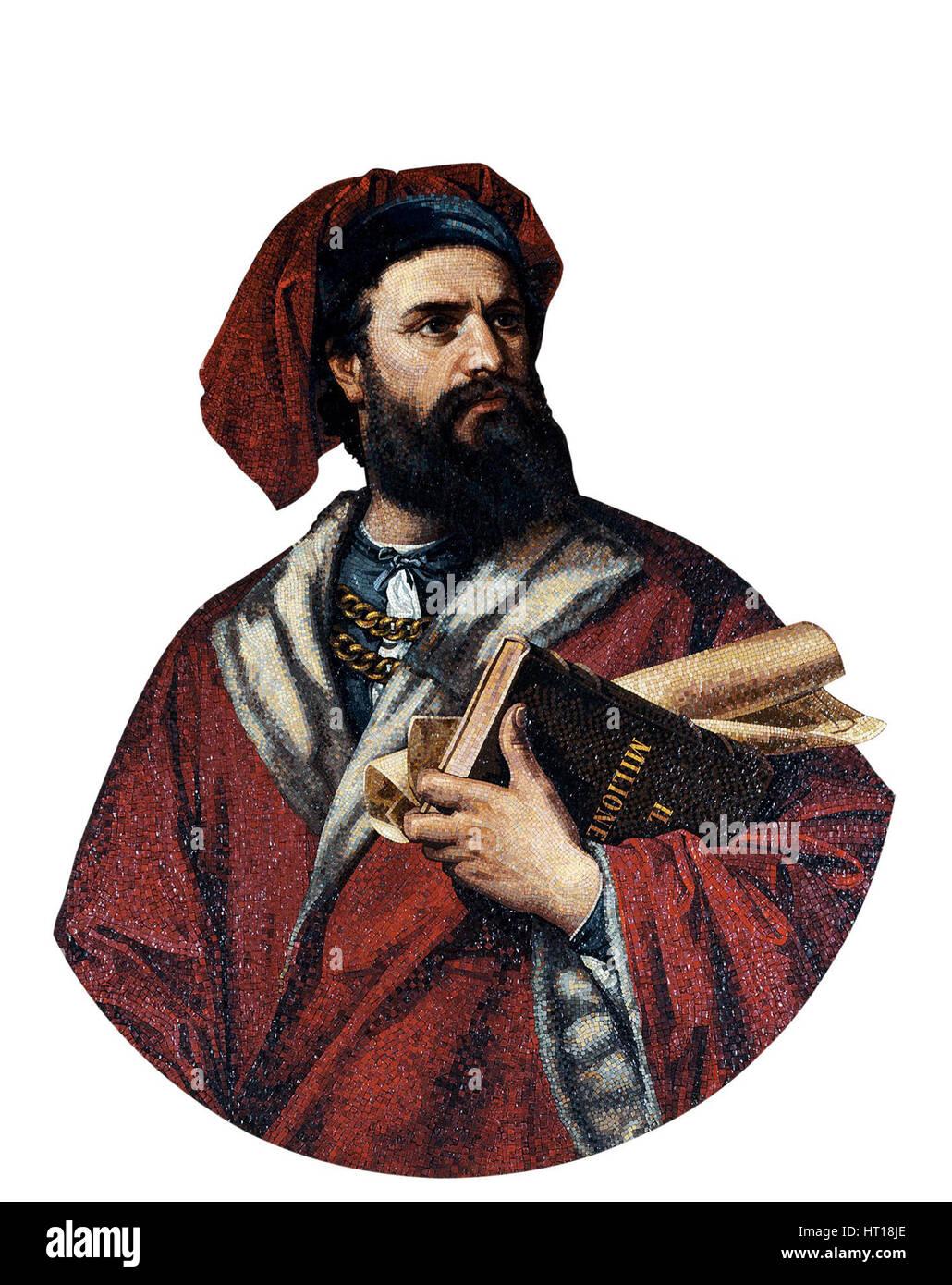 Marco Polo, 1867. Artist: Podio, Enrico (active 1860s) - Stock Image