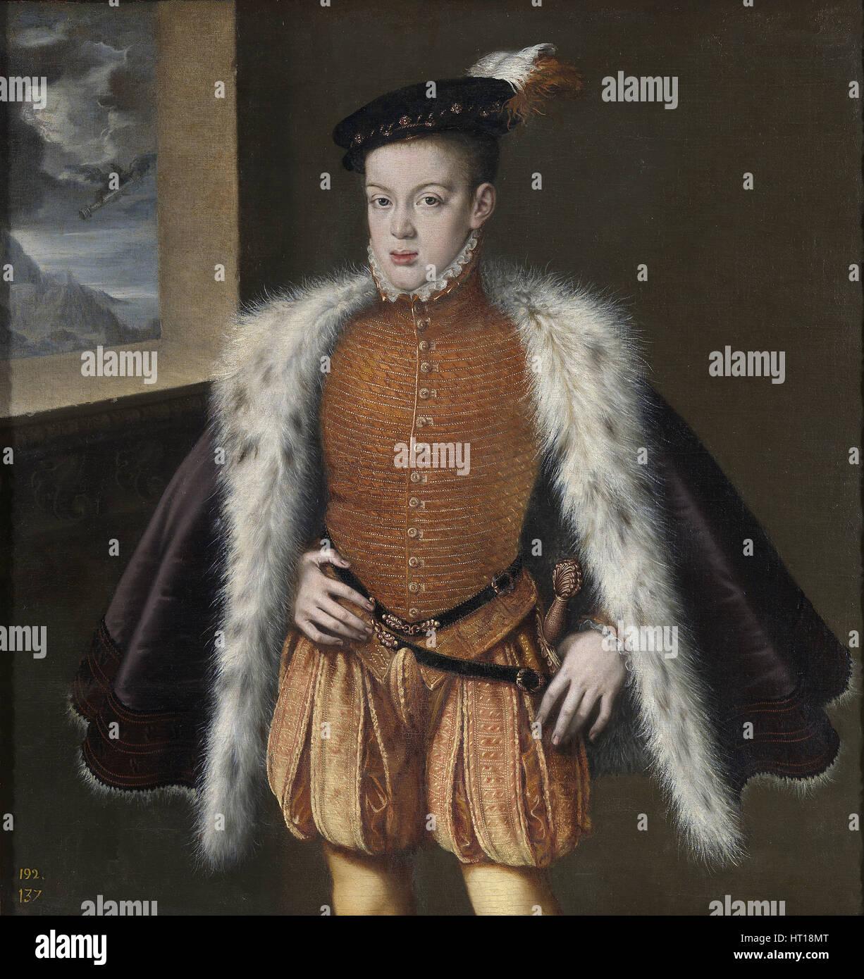Don Carlos, Prince of Asturias, 1555-1559. Artist: Sánchez Coello, Alonso (1531-1588) - Stock Image