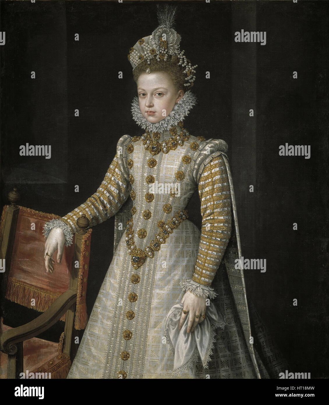 The Infanta Isabel Clara Eugenia (1566-1633), 1579. Artist: Sánchez Coello, Alonso (1531-1588) - Stock Image