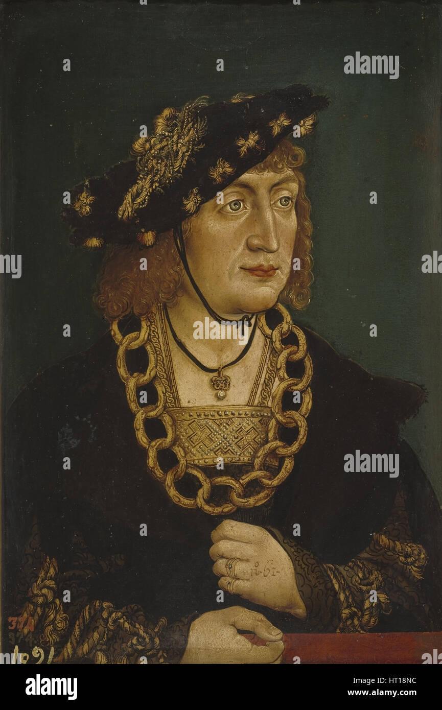 Portrait of Frederick III (1415-1493), Holy Roman Emperor, Late 15th  century. Artist: Wertinger, Hans, von (ca. 1465-1533)