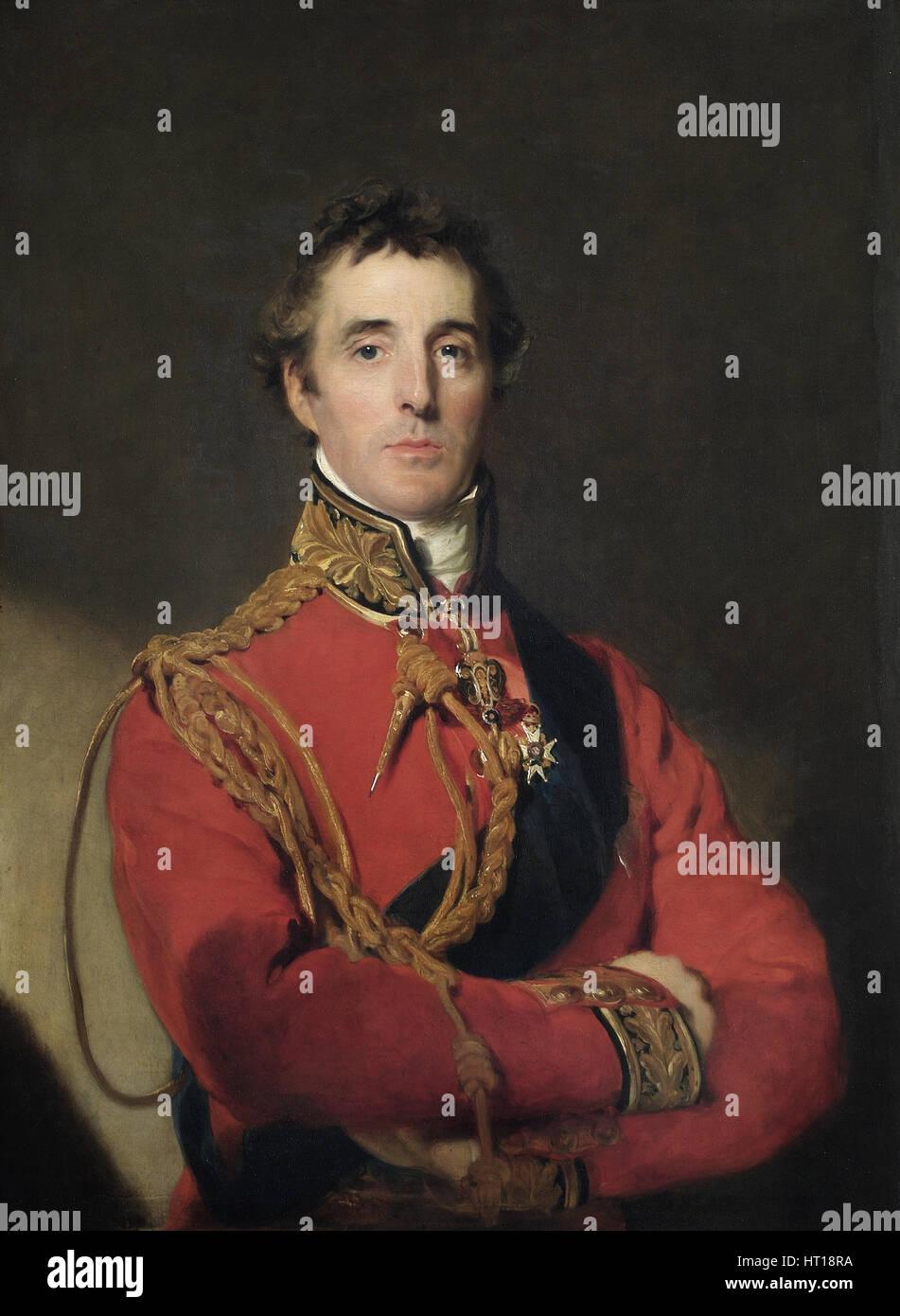 Portrait of Arthur Wellesley (1769-1852), 1st Duke of Wellington, 1815-1816. Artist: Lawrence, Sir Thomas (1769 - Stock Image