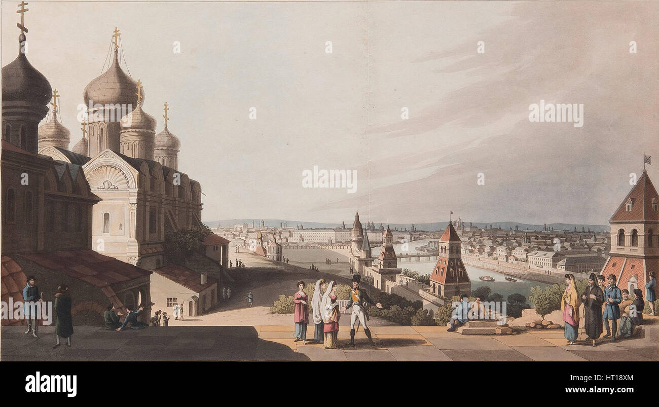 Moscow, 1816. Artist: Bowyer, Robert (1758-1834) - Stock Image