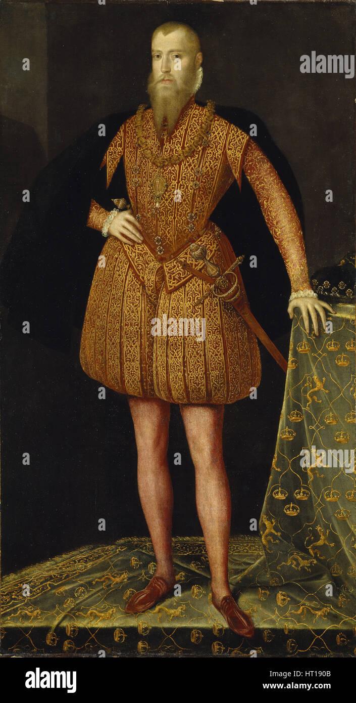 Portrait of the King Eric XIV of Sweden (1533-1577), 1561. Artist: Meulen, Steven van der (active 1543-1564) - Stock Image