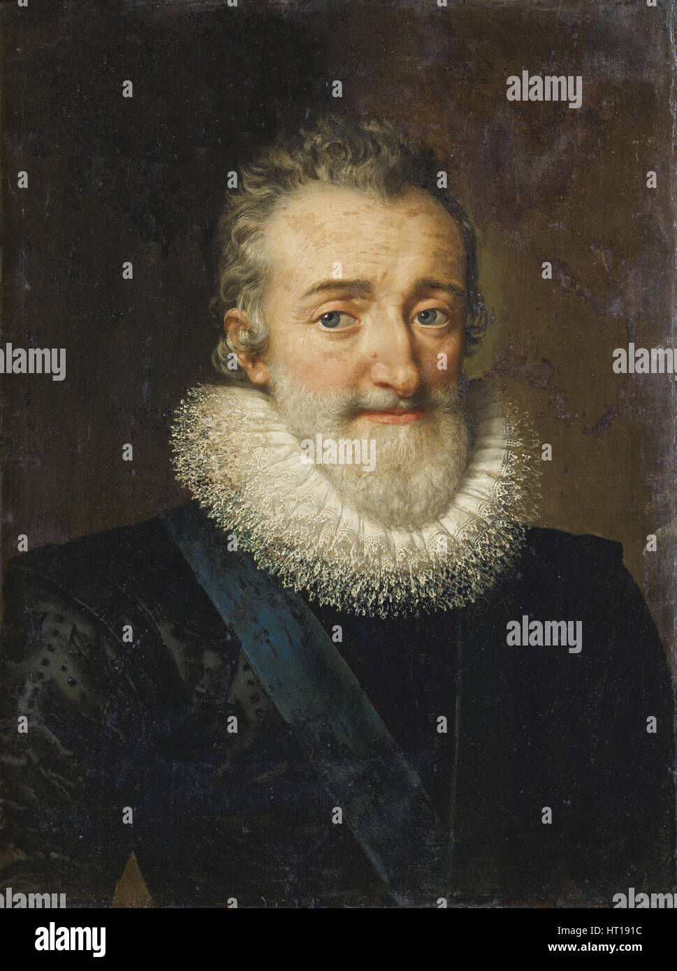 King Henry IV of France, 1610. Artist: Pourbus, Frans, the Younger (1569-1622) - Stock Image