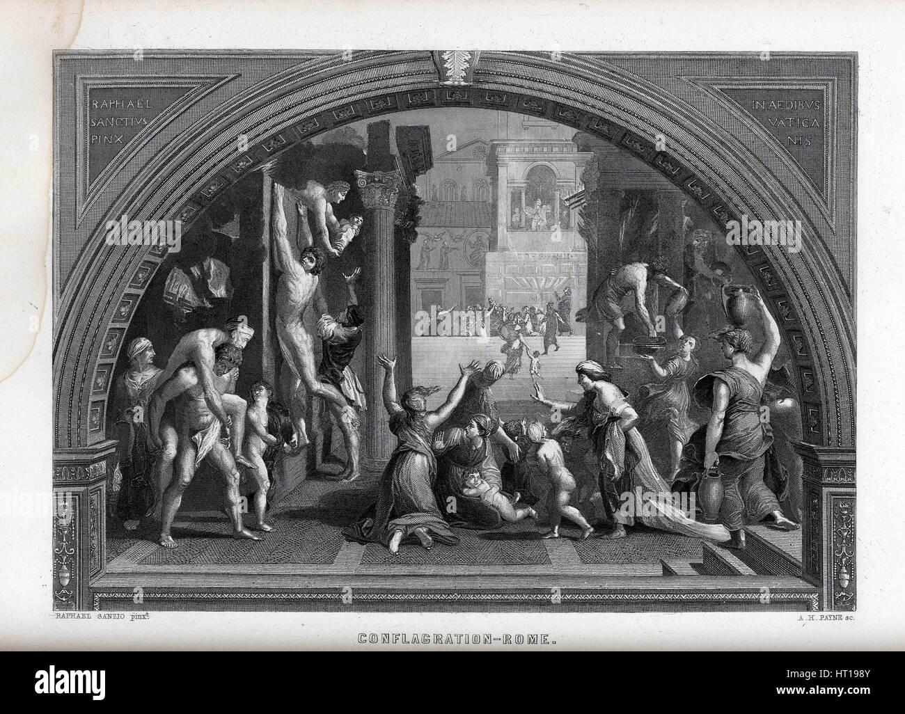Conflagration of Rome, 1882. Artist: Payne, Albert Henry (1812-1902) - Stock Image