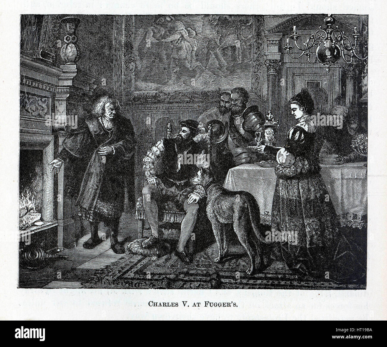Charles V at Fugger's, 1882. Artist: Anonymous Stock Photo