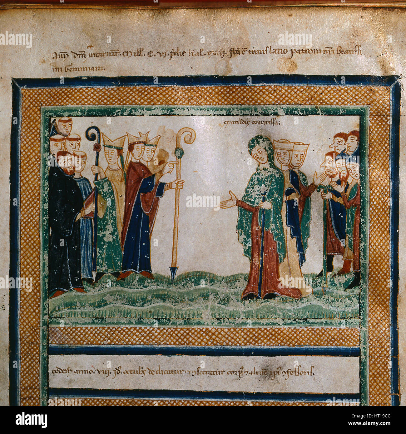 Matilda of Tuscany (From: Vita Mathildis di Donizone di Canossa), Between 1111 and 1115. Artist: Donizone di Canossa - Stock Image