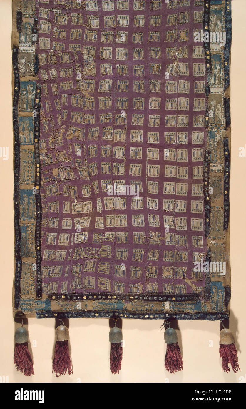 Saddle cloth with lions, 5th-4th century BC. Artist: Ancient Altaian, Pazyryk Burial Mounds - Stock Image