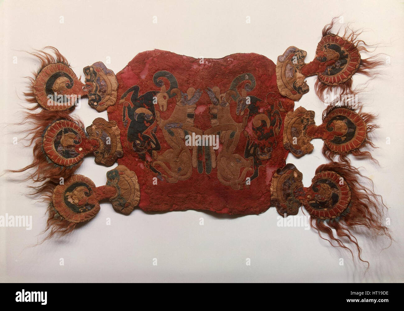 Saddle Cover, 5th cen. BC. Artist: Ancient Altaian, Pazyryk Burial Mounds - Stock Image