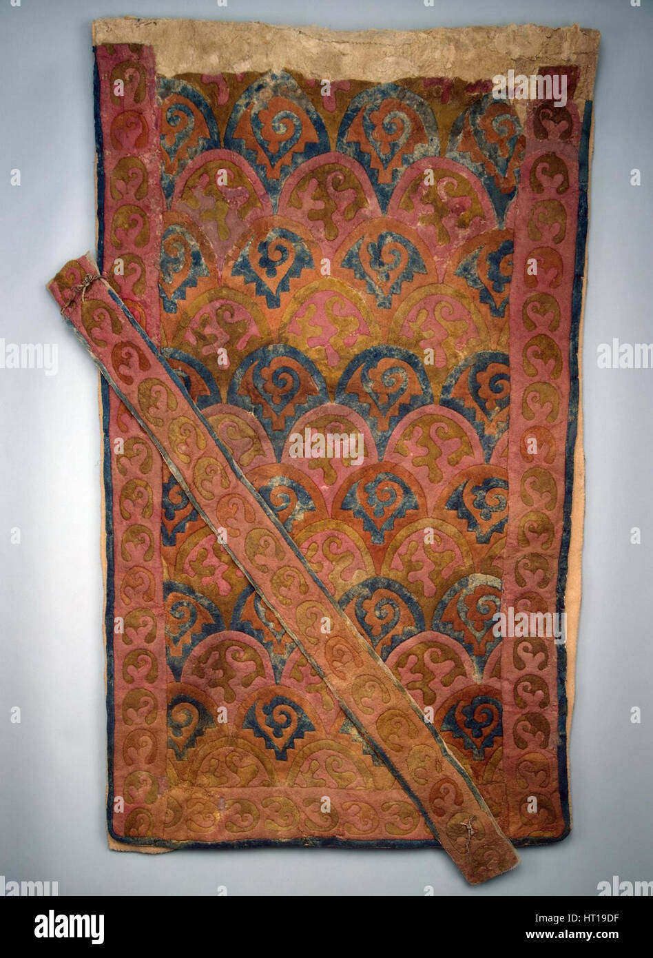 Saddle cloth, 5th-4th century BC. Artist: Ancient Altaian, Pazyryk Burial Mounds - Stock Image