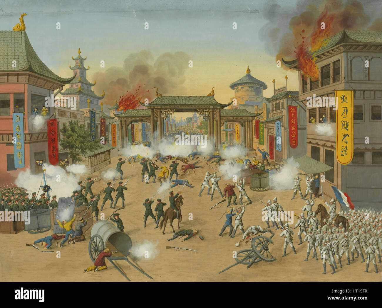 The Boxer Rebellion, Early 20th century. Artist: Anonymous - Stock Image