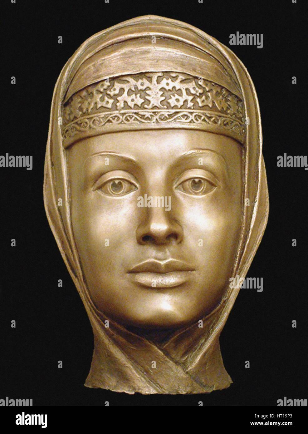 Marfa Vasilyevna Sobakina (1552?1571), the third wife of Ivan the Terrible (Forensic facial reconstr Artist: Nikitin, - Stock Image