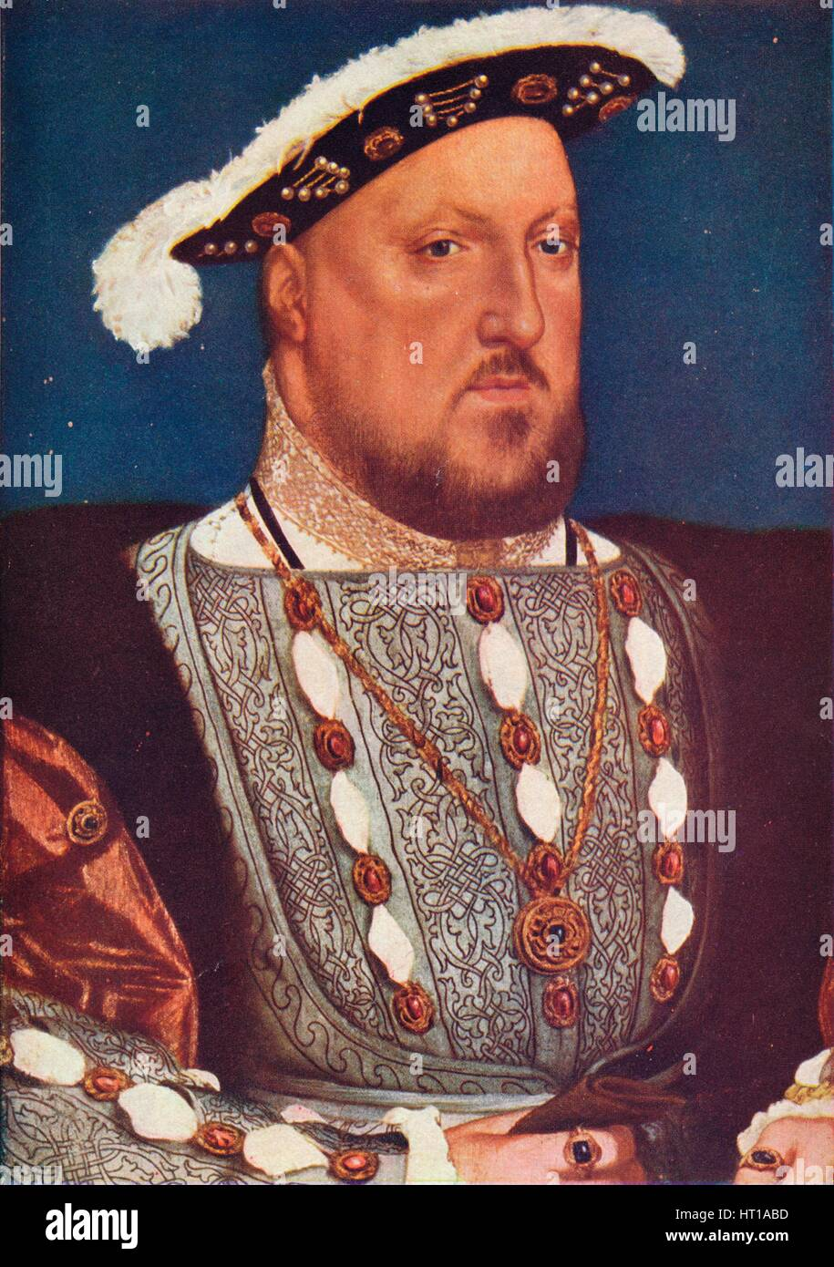 'King Henry VIII', c1537. Artist: Hans Holbein the Younger. - Stock Image
