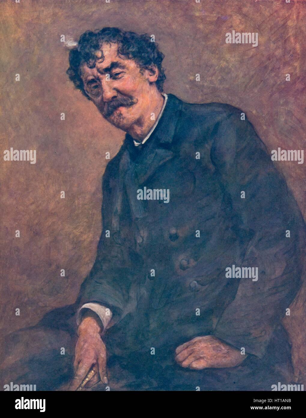 'James McNeill Whistler', c1885, (1904). Artist: Mortimer L Menpes. - Stock Image