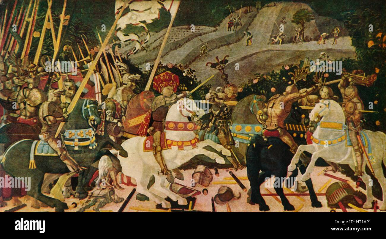 'The Battle of San Romano', c1438, (1909). Artist: Paolo Uccello. - Stock Image