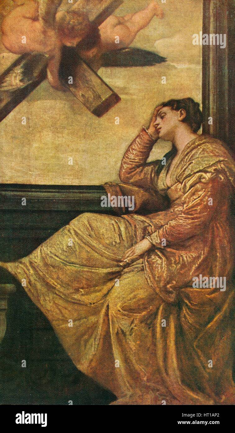 'The Dream of Saint Helena', 1570, (1909). Artist: Paolo Veronese. - Stock Image