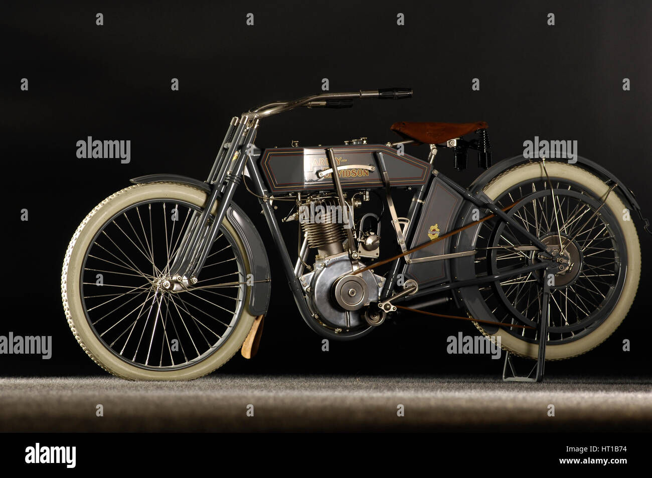Harley Davidson model X8A 1912. Artist: Simon Clay. - Stock Image