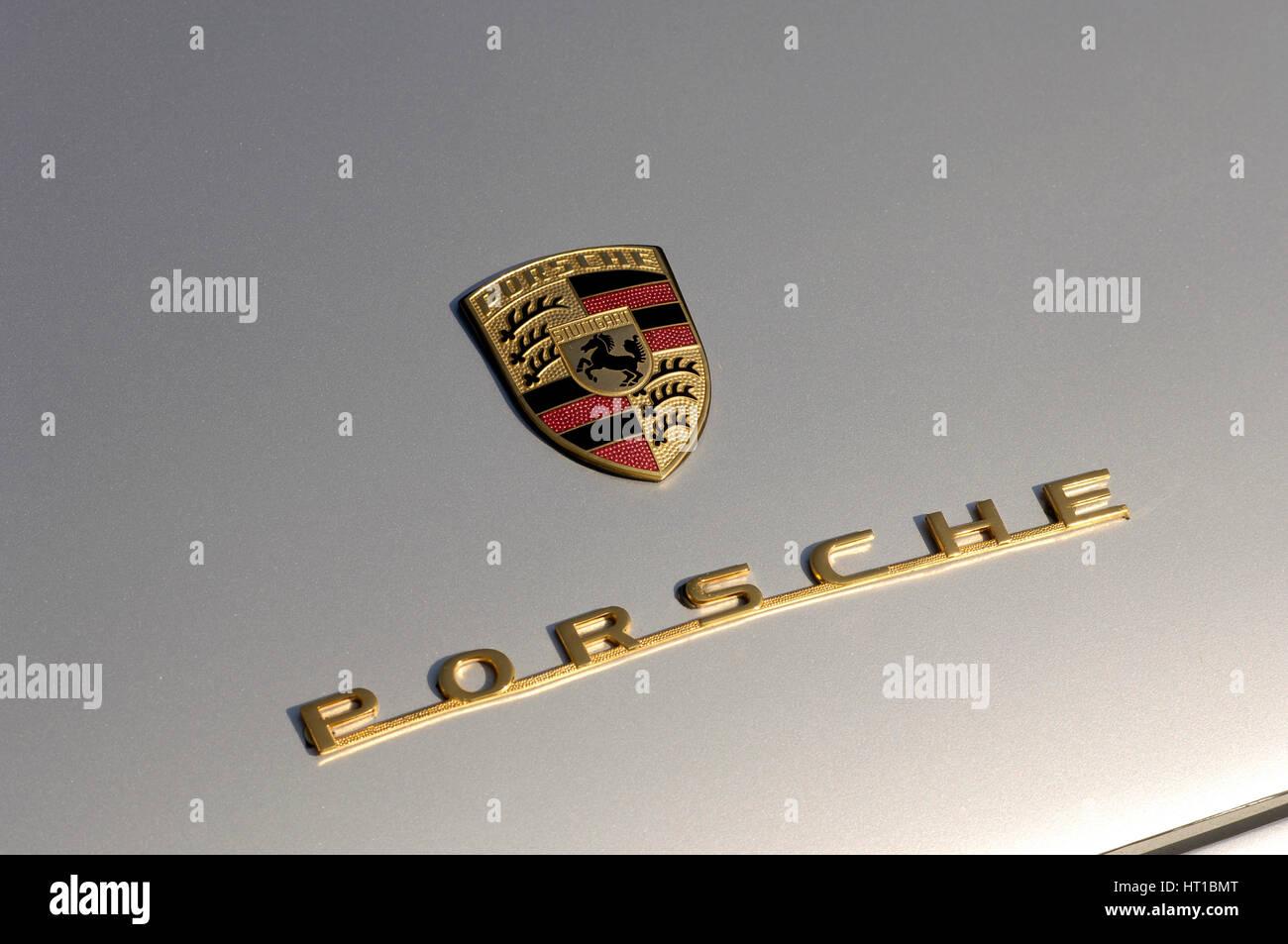 1956 Porsche Spyder - James Dean replica. Artist: Simon Clay. - Stock Image