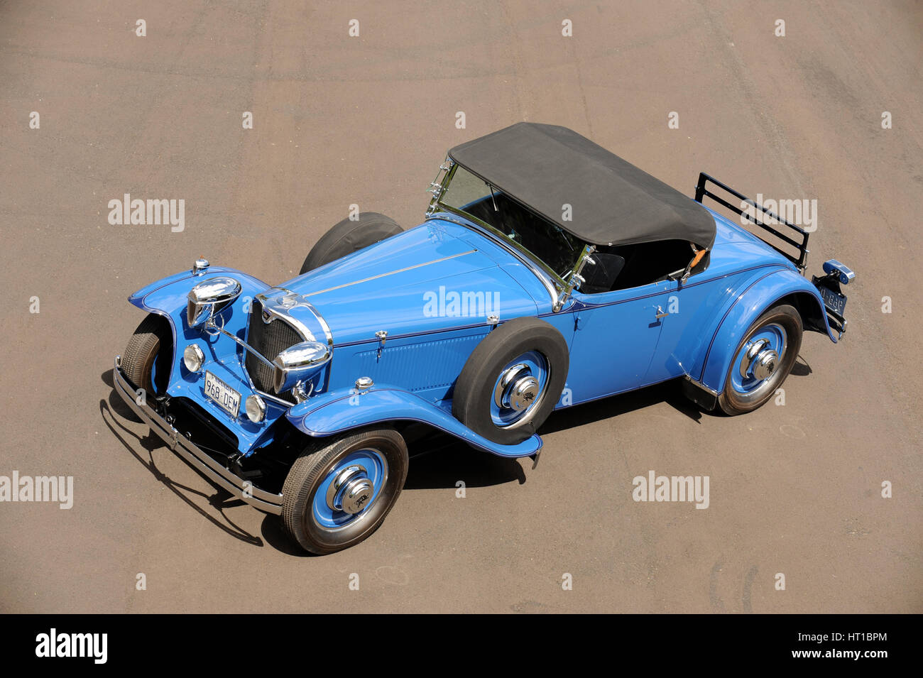 Ruxton model c roadster 1932. Artist: Simon Clay. - Stock Image